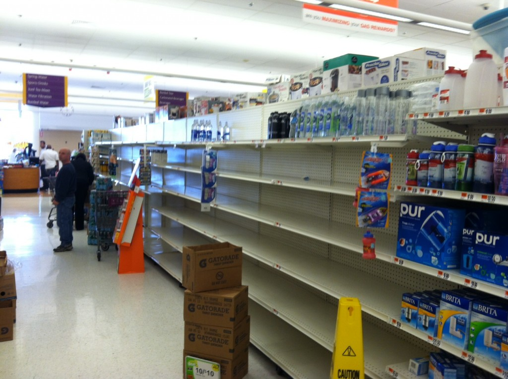 Water Aisle Empty