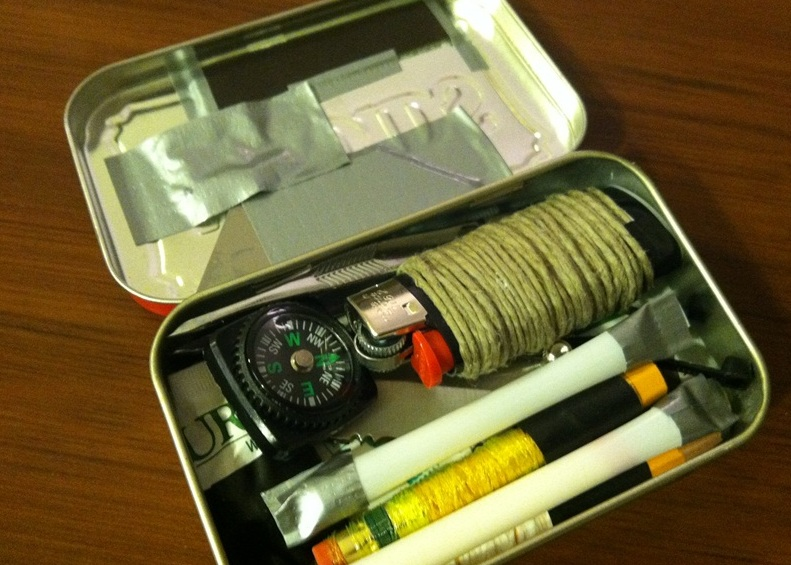 Altoids Survival Kit Built Using Walmart Supplies