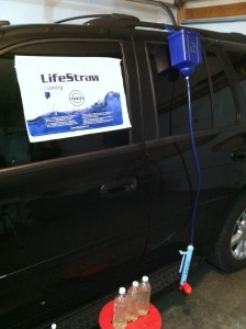 Lifestraw Family on SUV