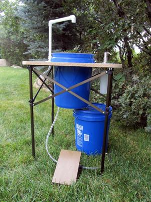Deluxe Camp Sink Sanitation And Hand Washing Prepper
