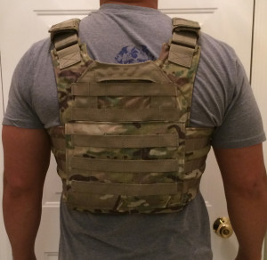 Rear View: Bellator Plate Carrier and Infidel Body Armor