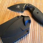 Ka Bar TDI LEO Knife and Sheath Thumb